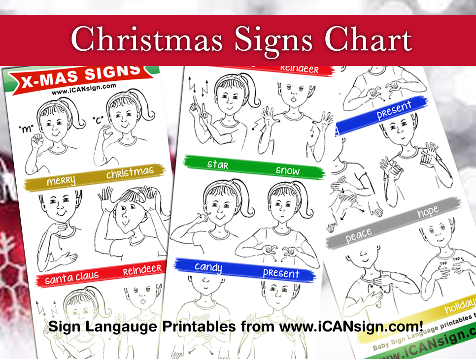 sign language chart holiday signs - Asl Christmas