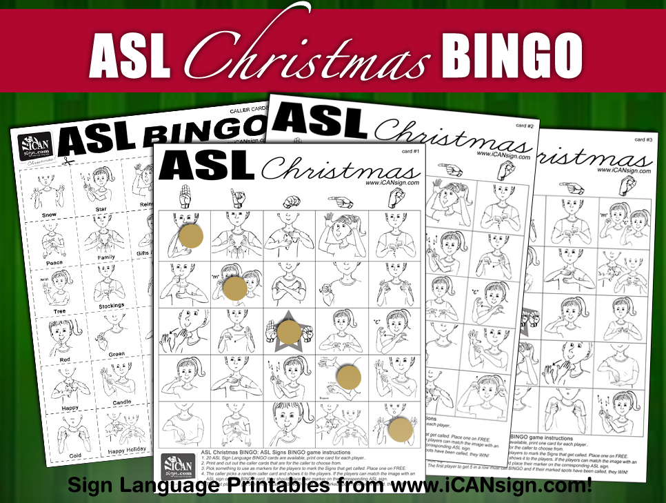 image relating to Merry Christmas in Different Languages Printable referred to as asl merry xmas Little one Signal Language